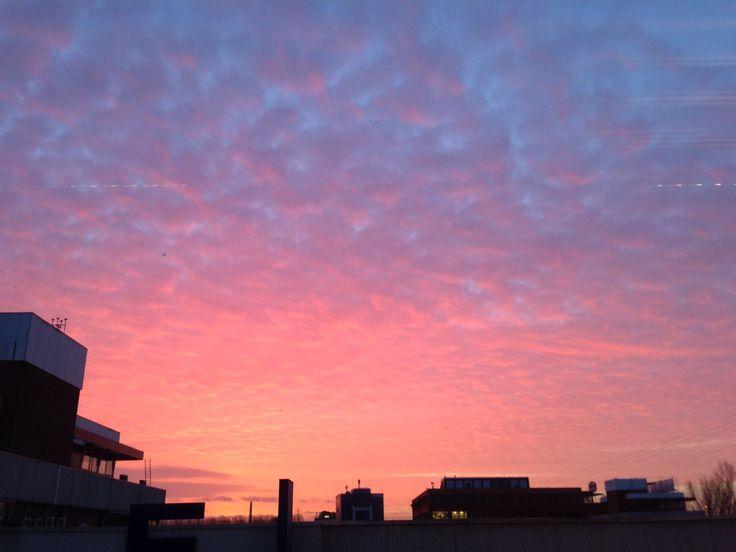 Above Utrecht at sunrise