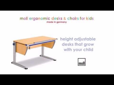 Ergokidz - Moll ergonomic kids desks & ergonomic kids chairs - YouTube