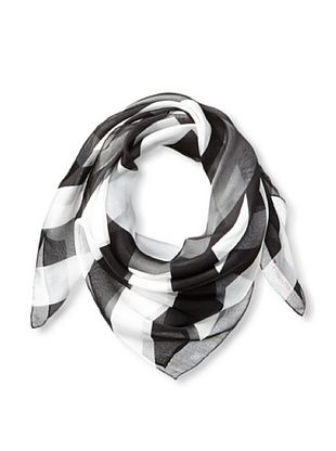 61% OFF Terracotta New York Women's The Morgan Monochrome Striped Scarf, Black/White