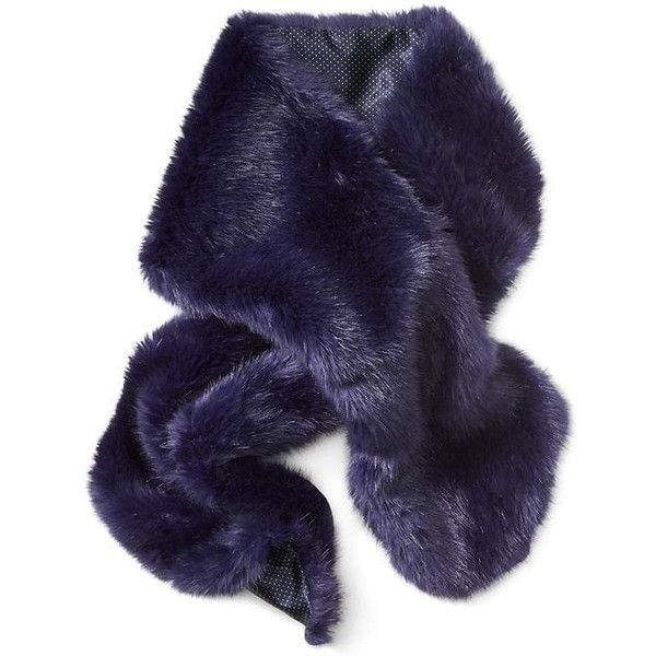 Banana Republic Faux Rabbit Fur Scarf ($78) ❤ liked on Polyvore featuring accessories, scarves, navy, rabbit scarves, navy scarves, navy shawl, banana republic and faux-fur scarves