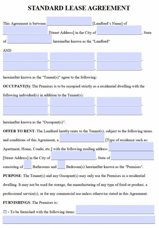 Free Lease Agreement Template Word   gtldworldcongress/free - Residential Rental Agreement