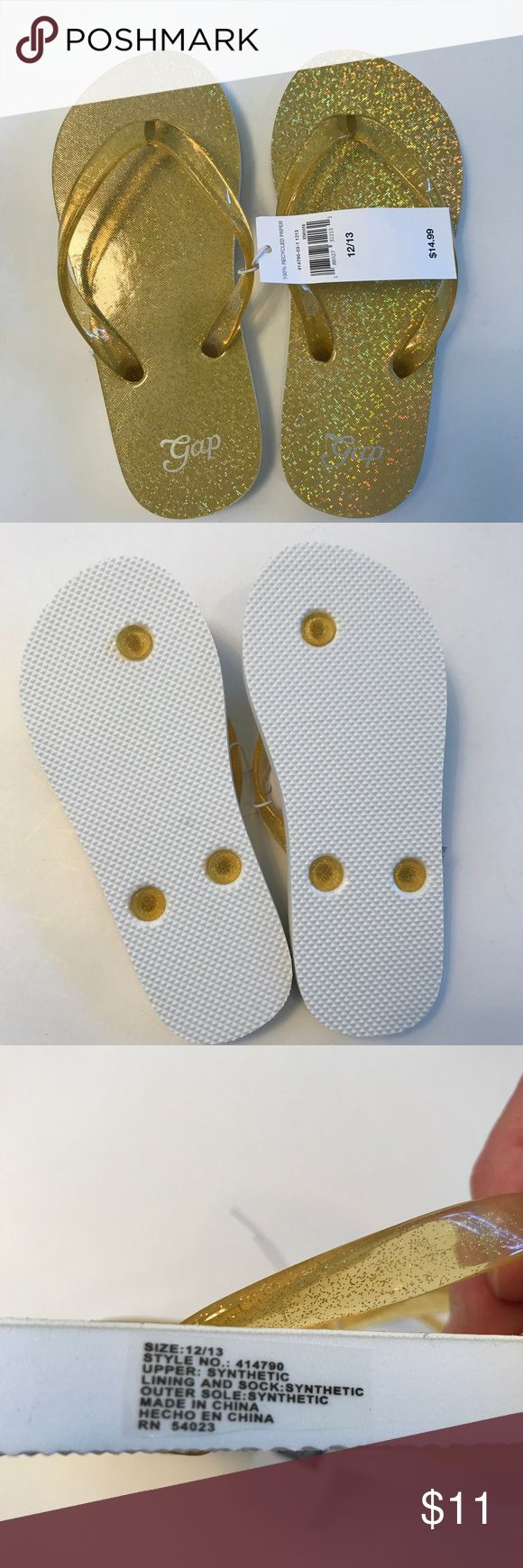 NWT Gap Gold/yellow flip-flops NWT Gap gold/yellow flip-flops. Size 12/13. Gap Shoes Sandals & Flip Flops
