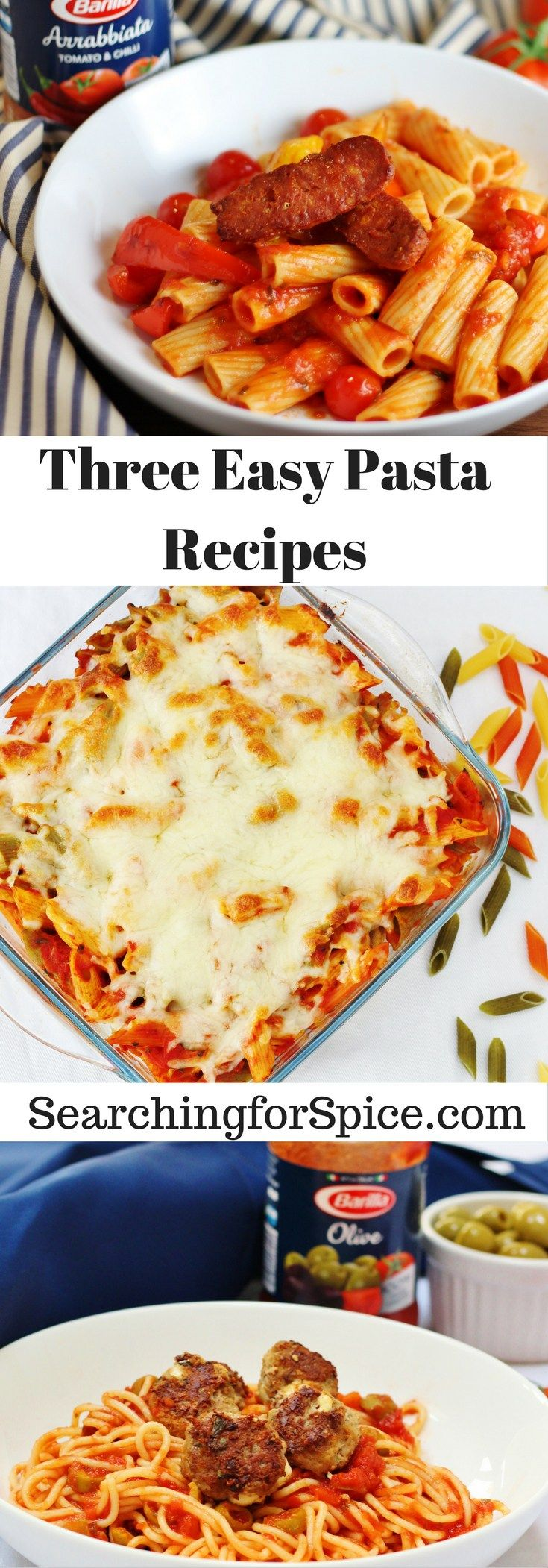 Three easy pasta recipes with Barilla pasta and sauces