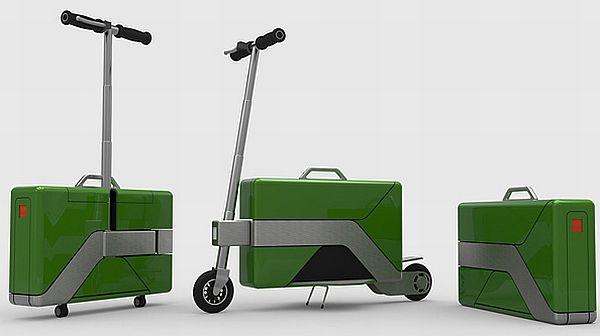 折り畳むとスーツケースになる電動バイク「COMMUTE-CASE」 - えん乗り