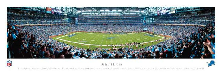 Parking Near Ford Field Detroit | Detroit Lions at Ford Field Panorama Poster