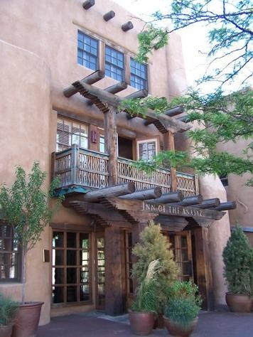 Inn of the Anasazi - Santa Fe, New Mexico. The oldest building is said to be haunted by the ghost of a young woman. boo
