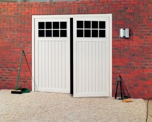 Side Hinged Garage Doors made from traditional wood or modern products in many designs from Best Garage Doors, Barnsley, South Yorkshire.