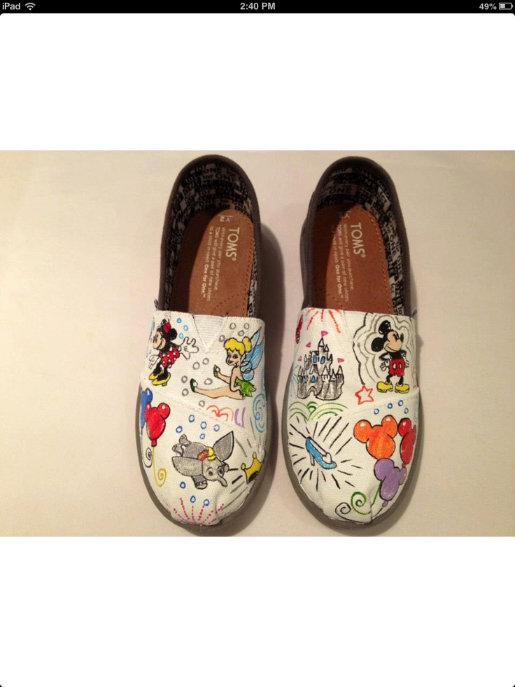 Omg!!!! Disney Toms that will match my purse!!! :)