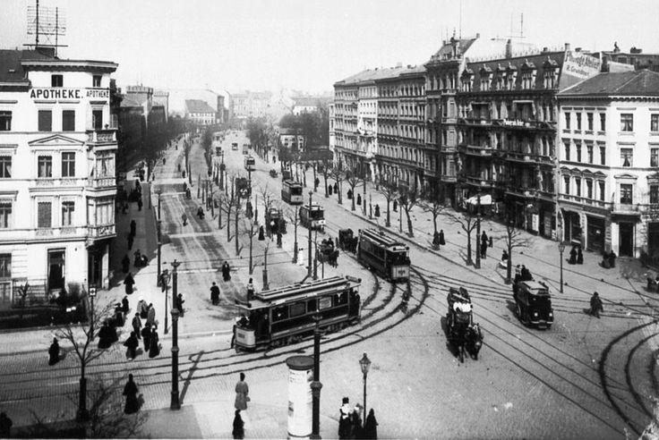 Berlin 1900 Belle-Alliance-Strasse (heute Mehringdamm) Ecke Yorckstrasse