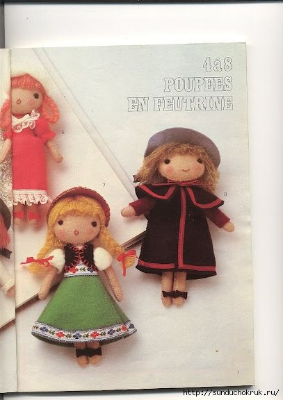 Candy Dolls. Free pattern