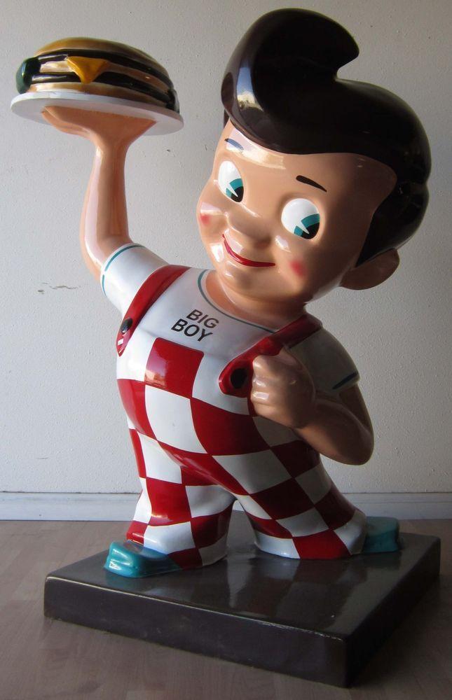 Bob's Big Boy Restaurant Advertising Fiberglass Figure #BigBoy