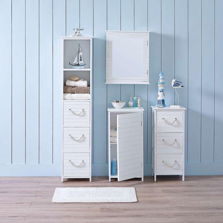 Nautical Bathroom Furniture Collection   Dunelm