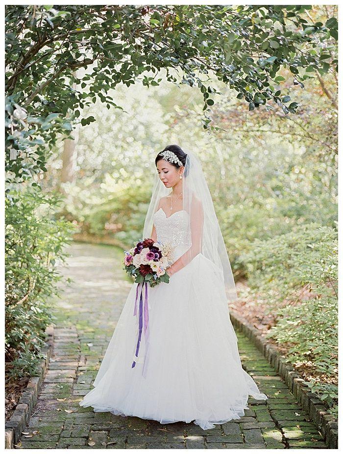 Kelli + Daniel Taylor Photography, LLC Blog » Birmingham-based wedding photography.Bridal session at Birmingham Botanical Gardens. HMUA Melissa Moore Bogardus. Florals by Mandy Busby.