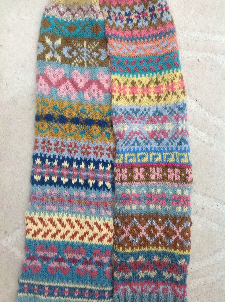 20 Best F For Fair Isle Images On Pinterest Knitting Stitches