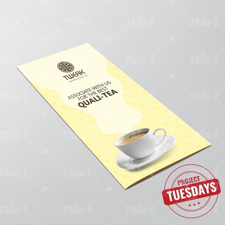 A brochure represents company's personality captured in a few pages! 'Tweak' provides a wide range of #Tea & #Coffee products projected in this trifold brochure. Browns & creams are used to invigorate the viewers senses, just like their products!