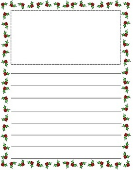 Christmas Themed Lined paper and Pageborders (2)
