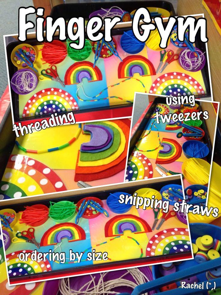 """Fine Motor Fun with a rainbow theme - from Rachel ("""",)"""