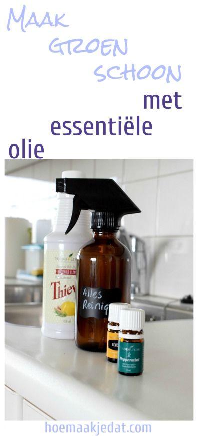 Maak zelf allesreiniger met essentiële oliën