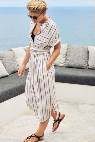 078809c5aeb Womens Next Stripe Emma Willis Shirt Dress - White in 2019 | Outfits ...