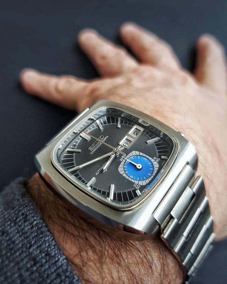 "Seiko 7016-5011 "" Chronograph Automatic "" Monaco - NOS - March 1974"