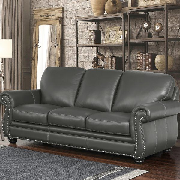 Fairdale Leather Sofa Reviews Birch Lane Grey Leather Sofa Best Leather Sofa Top Grain Leather Sofa
