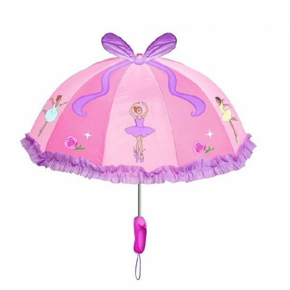 The cutest umbrella for little ballerinas! Pink, with ballerina motif, perfect for every day or to walk to ballet class under the rain. Ideal for gifts and birthday presents. Diameter: 68 cms Length: