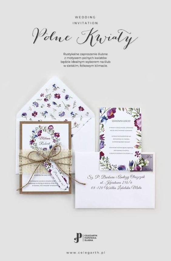 Rustykalne zaproszenie ślubne Polne Kwiaty | Pracownia Celegarth #zaproszeniaslubne #zaproszenianaslub #zaproszenia #rustykalnezaproszenia #polnekwiaty #motywnaslub #pomyslnazaproszenia #eko #wesele #slub #pomyslnaslub #celegarth #weddinginvitation #weddingstationery #weddingdesign #rustic #botanicalinvitation #wildflowers