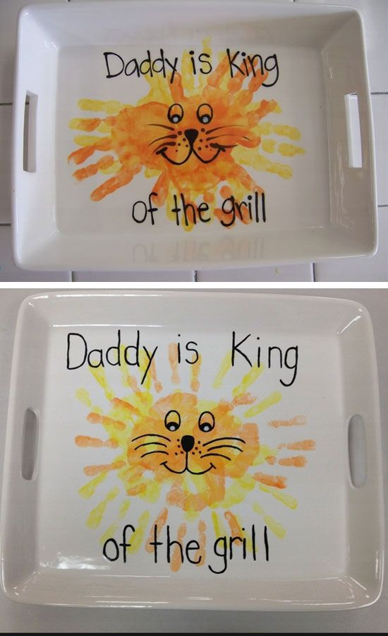 http://hostingecologico.com/url/fathersday2016 ---- King of the Grill Plate   DIY Fathers Day Gifts from Kids