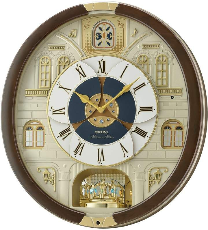 Seiko Melodies In Motion Wall Clock Qxm371brh Wall Clock Clock Pendulum Wall Clock