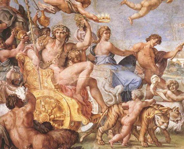 Annibale Carracci, Trionfo di Bacco e Arianna (particolare) 1595-1600, affresco, Palazzo Farnese, Roma