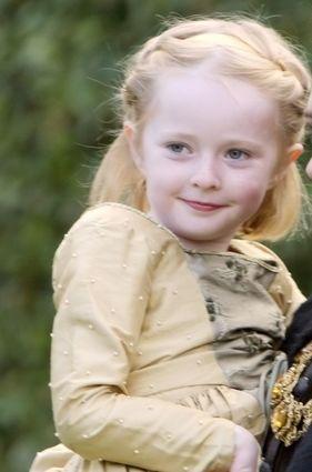 Kate Duggan as Princess Elizabeth, daughter by Anne Boleyn in The Tudors