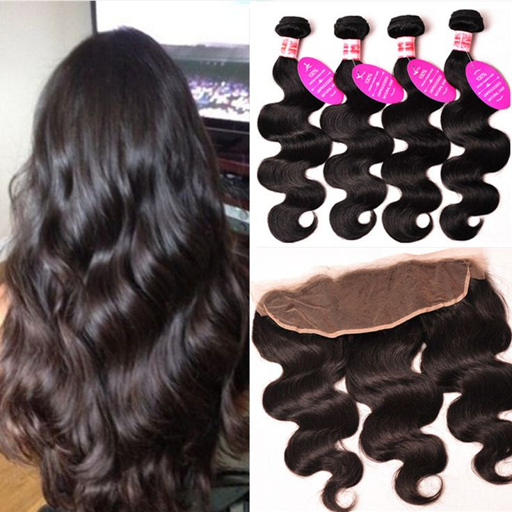Peruvian Virgin Hair Body Wave Lace Frontal Closure With Bundles Peruvian Body Wave Human Hair 13x4 Lace Frontal With Bundles | #HairBundles #HairWeaveClosures