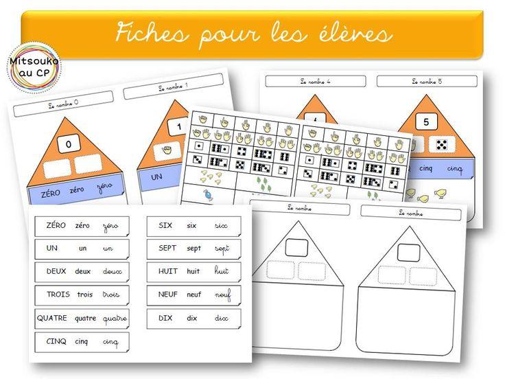Affichage collectif et fiches de l'élève, pour reprendre les nombres de 0 à 10 à la rentrée !