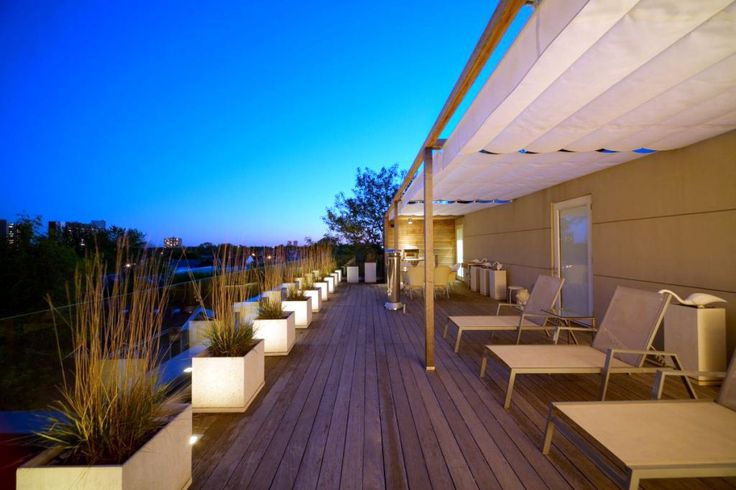 half outdoor minimalistic modern deck design