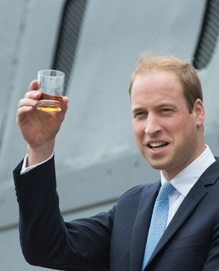 Prince William, Duke of Cambridge gives a toast during an official visit to The Royal Navy Submarine Museum, 12.05.14 in Gosport, England.