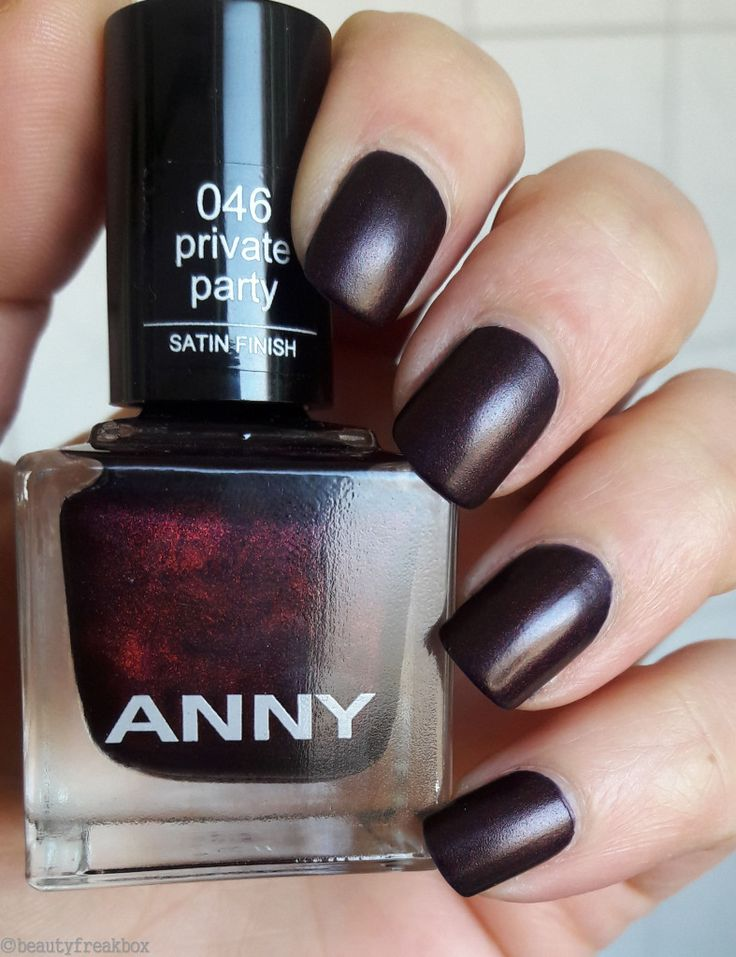 ANNY Nagellack Satin Finish – 046 private party  #anny #douglas #nagellack #nailpolish #effectlack