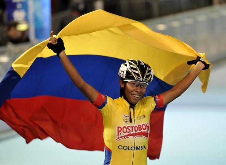 Luz Karime Garzón, campeona mundial de patinaje15.000 metros eliminación mayores, el 11 de septiembre en China.