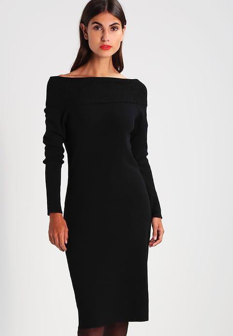 Esprit Sukienka dzianinowa - black - Zalando.pl