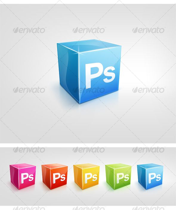 5 Color Cubic Icons - Software Icons