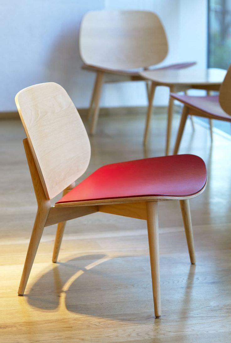 Contemporary fireside chair / Scandinavian design PAPA-F-276 by Jonas Lindvall Skandiform