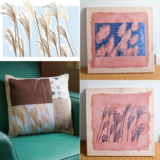 Inspo - Screen print unto a finished patchwork cushion & 69 best screen printing ideas images on Pinterest | Screenprinting ... pillowsntoast.com