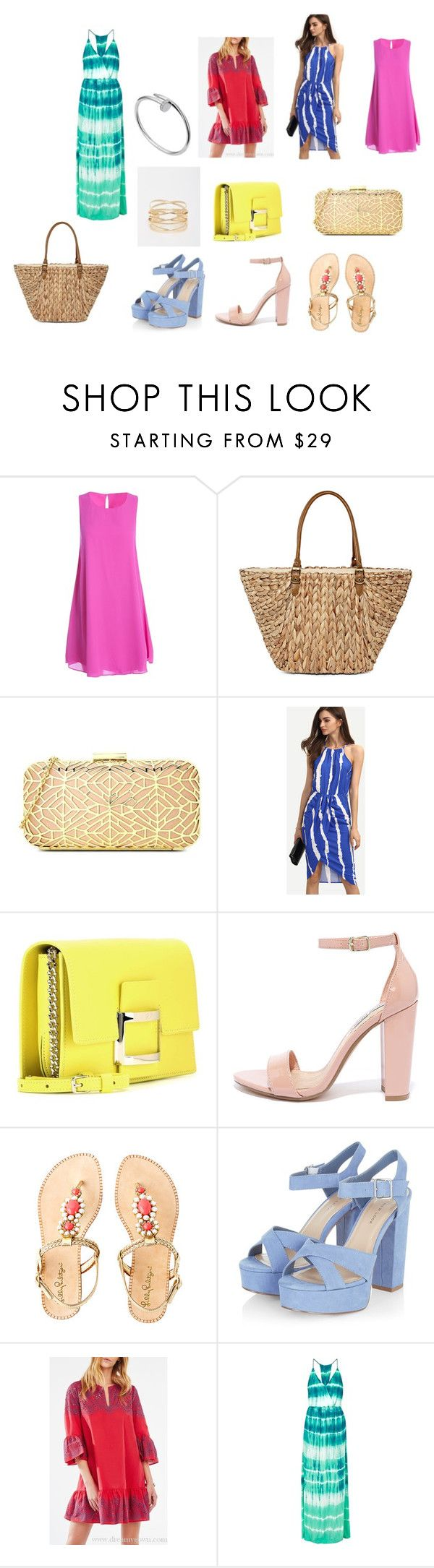 """кпк"" by katy-rock-1 on Polyvore featuring мода, Sans Souci, Straw Studios, Love Moschino, Roger Vivier, Steve Madden, Lilly Pulitzer, BCBGMAXAZRIA, River Island и Young, Fabulous & Broke"