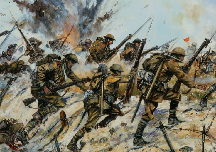 world war 1 art prints   detail from Jason's latest painting- depicting the battle of the ...