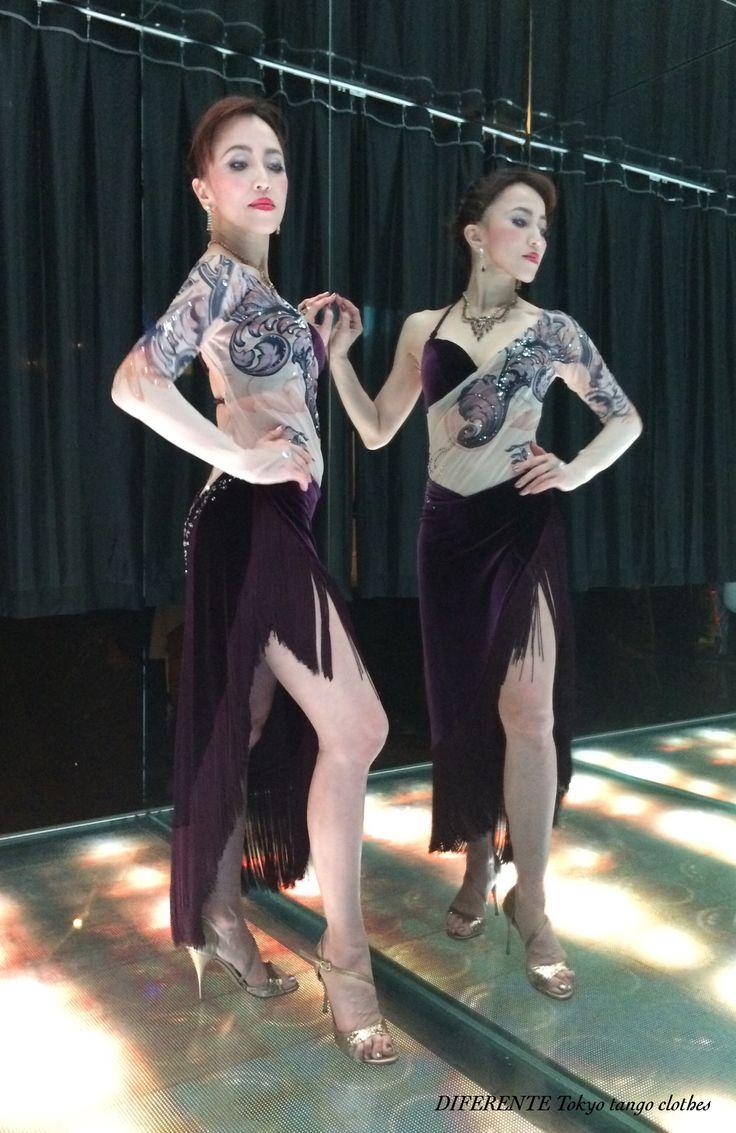 We made special tango costume from fabric design for Alisa.  Designer; Yumi Fukazawa  Fabric design; Masahiro Fukazawa  Dancer; Eugene & Alisa