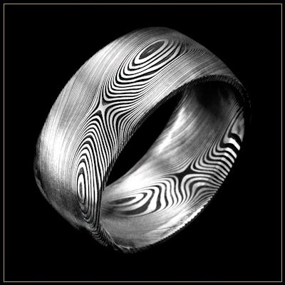 wood grain damascus steel mens wedding ring - Cheap Men Wedding Rings