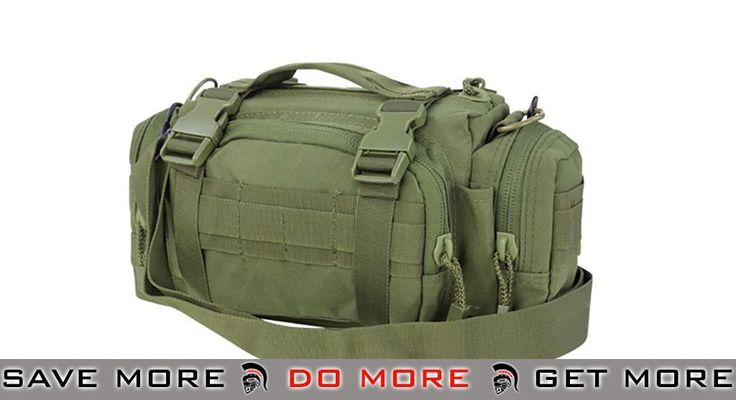 Condor Deployment Bag w/ Accessory MOLLE Pouch  - Color: OD Green - Condor Item Number 127