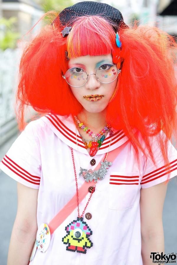 japanese fashion, clothing, outfit, red hair   Favimages.net