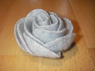 Cómo hacer esta rosa de fieltro (cosida a mano)