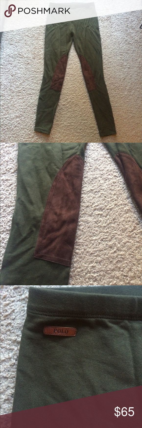 NWT RALPH LAURAN GREEN LEGGING+SUEDE PATCH-SZ S NWT RALPH LAURAN GREEN LEGGING+SUEDE PATCH-SZ S Polo by Ralph Lauren Pants Leggings