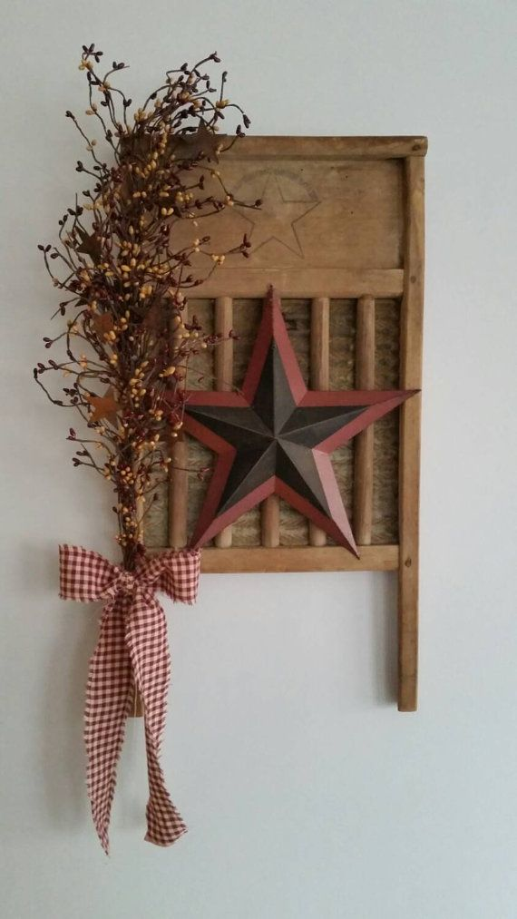 Check out this item in my Etsy shop https://www.etsy.com/listing/225601702/rustic-primitive-vintage-washboard-decor